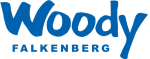 Woody i Falkenberg Logotyp